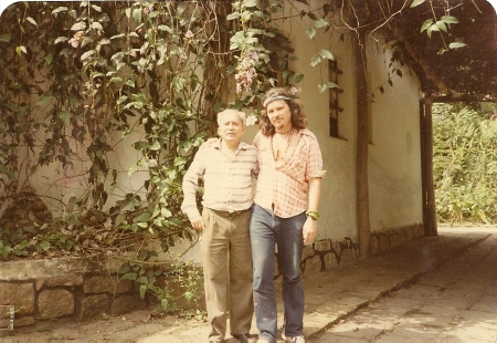 Lȇdo Ivo and the author, early 80s, at Lȇdo's sitio near Rio de Janerio.