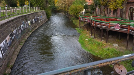 Vilna River at Užupis Café, Republic of Užupis, 2013, photo by Lamont Steptoe