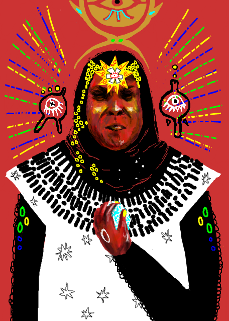 Sun Ra the Cosmic Philosopher and Jazz Musician, painting by Mister ISK