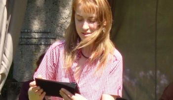 Sonata Paliulytė reading at Poetry Spring event, 2014